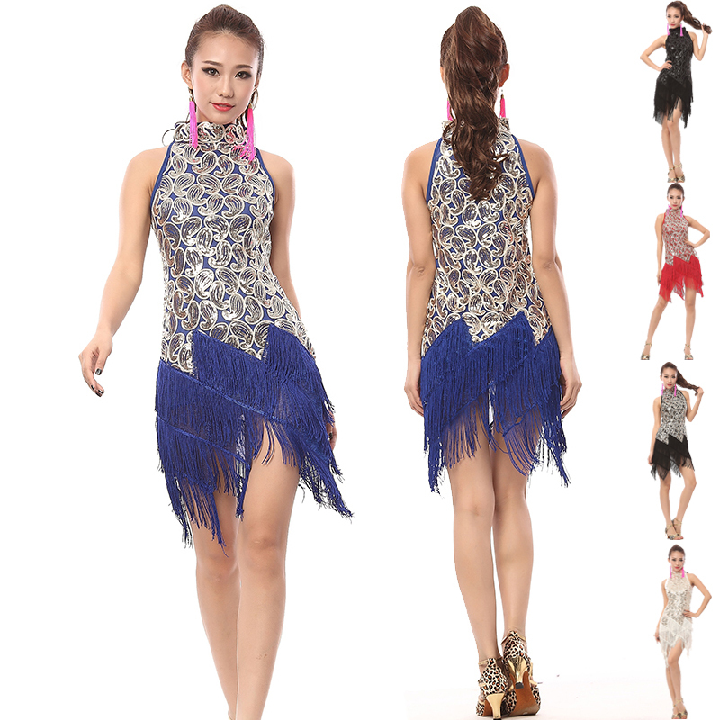 Latin Dance Dress Women Samba Vestidos Costume Tango ballroom Dancing Clothing Salsa Dresses Saia Saias DS081 - URA.Co.,Ltd. store