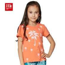 girls t shirt brand kids t-shirts short sleeve fashion girls clothing 2016 print children tees wholesale size 6-15t