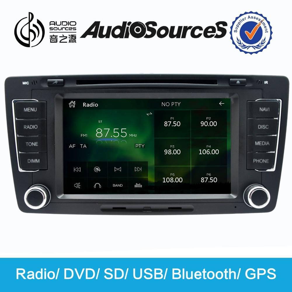 car dvd gps windows ce 6.0 fit for skoda octavia manual with radio bluetooth gps tv(China (Mainland))