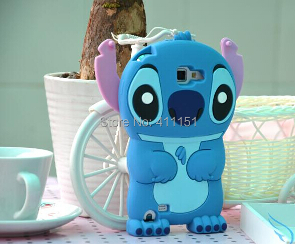 3D Cute Stitch Soft Silicone Rubber Cover Case Alcatel One Touch POP C7 OT 7041D - ALEX ZHOU Store store
