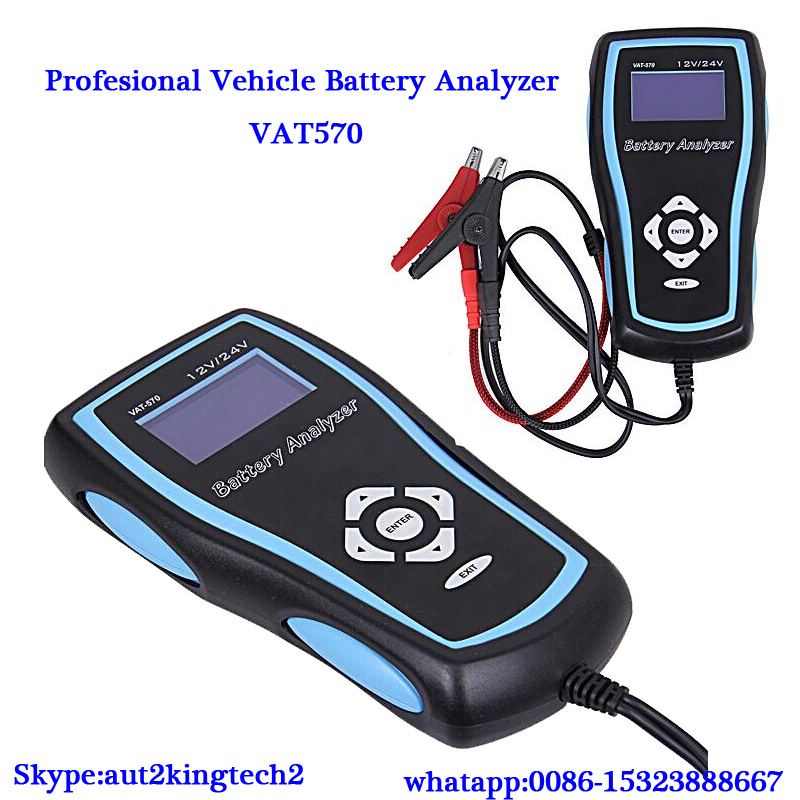 2016 New Released VAT-570 Battery Analyzer Car Ferry UPS Battery Internal To Test 12 / 24V Resistance Tester(China (Mainland))