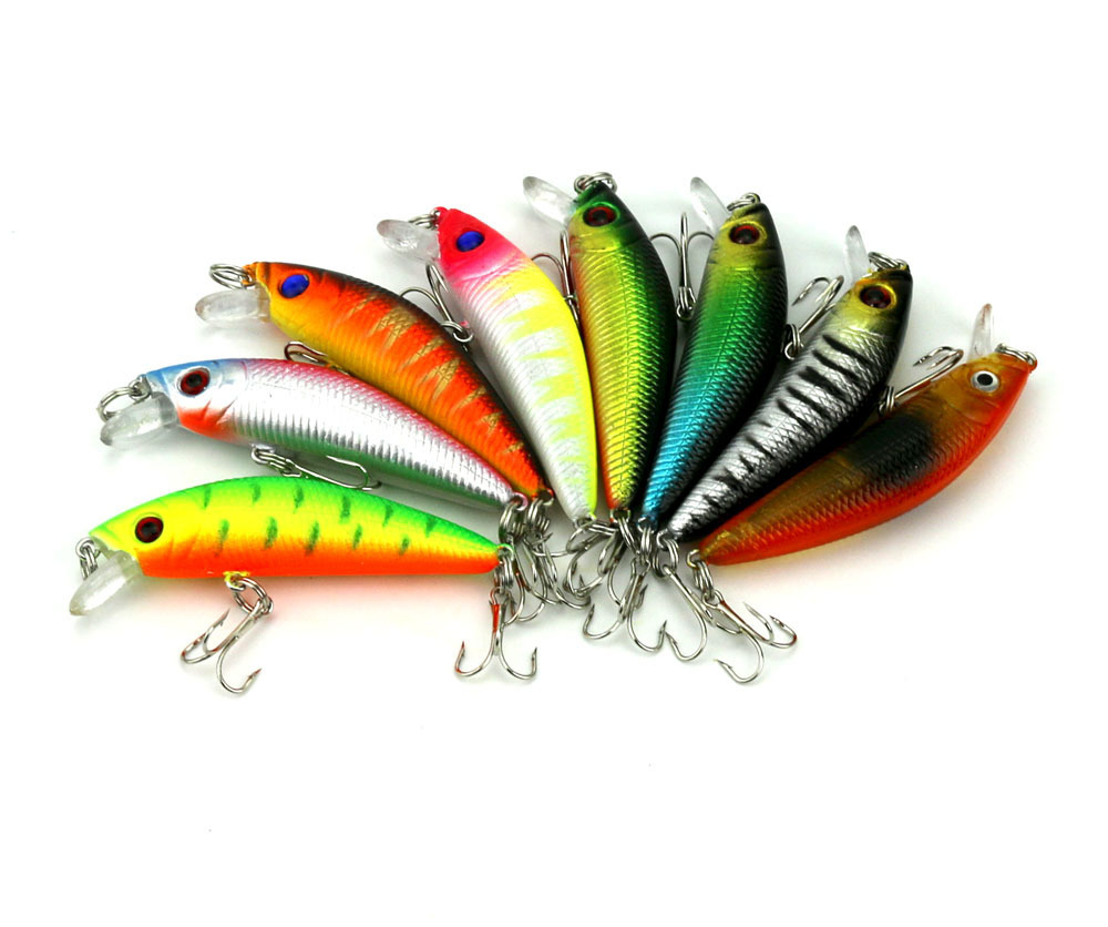 New Arrival Fishing Lure 7.5cm 7.9g Practical Green Paint Pesca Plastic Fly Fishing Free Shipping FSH0007(China (Mainland))