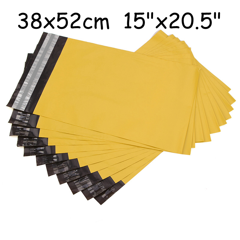 """38x52cm 15""""x20.5"""" 40pcs new yellow custom printed poly mailer packing,plastic envelop mailing bags,courier bags(China (Mainland))"""