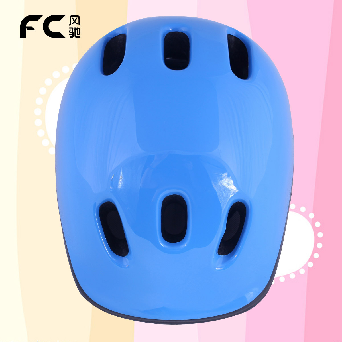 Fc child helmet pulley skateboard safety bicycle roller skating protective gear blue - Professional Outdoor sport products store