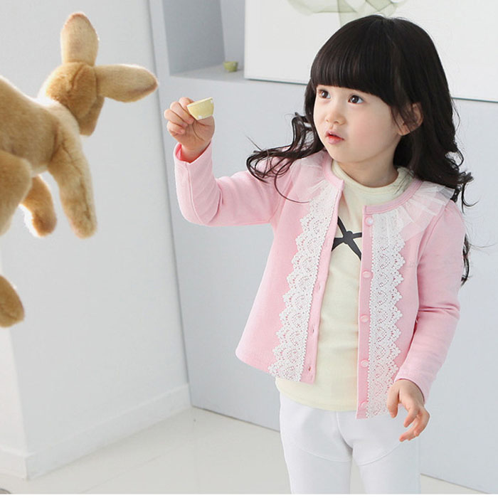 Fashion Resuli New baby clothing Cardigan jacket children outerwear Girls Kids Lace Coat Long Sleeve Outwear Clothes Resuli(China (Mainland))
