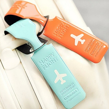 Glossy Colorful Luggage Tags Labels Strap Name Address ID Suitcase Bag Baggage Travel(China (Mainland))