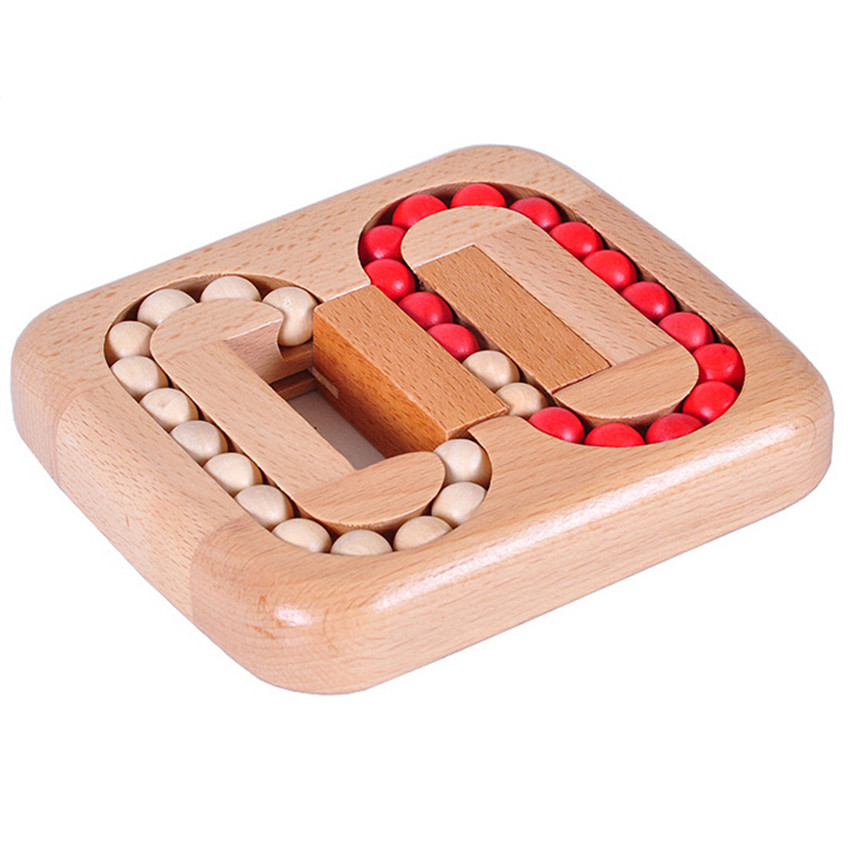 Classic IQ Wood Game Mind Brain Teaser Beads Wooden Puzzle for Adults Kids Gifts,Creative 3D Puzzle Board Games for Children(China (Mainland))