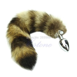 D19 Hot-selling Love Faux Raccoon Tail Butt Anal Plug Sexy Romance Sex Funny Adult New Free shipping