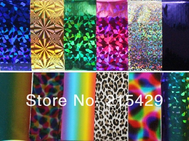 New update 101colors/lot  Nail foil sticker Nail Art Stickers Manicure Pedicure nail care can mix colors  requested 150cm length