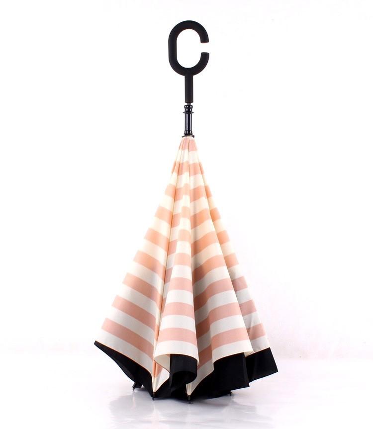Navy Stripe Inverted Umbrellas C-shape J-shape Handle Waterproof Double  Layer Reverse Car Umbrella Paraguas Rain Umbrella - us613 683e7154dd49