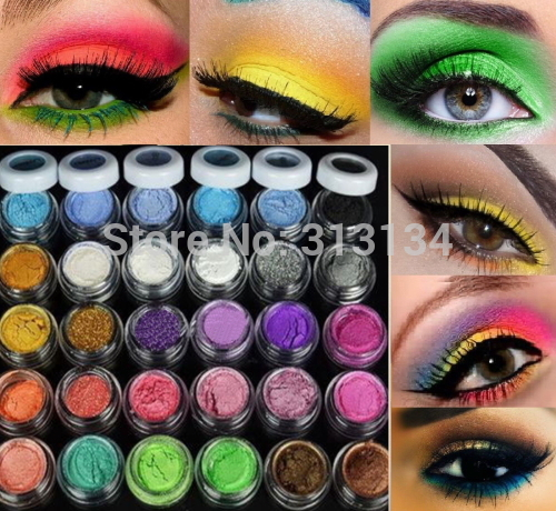 30 Colors Eye Shadow Powder pigment Colorful Makeup Mineral Eyeshadow Pigment set Makeup tools cosmetic(China (Mainland))