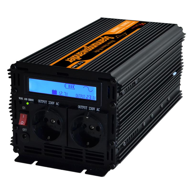 pure sine wave power inverter DC12V to AC220V 1500 watt Peak 3000w outdoor home school frequency inverter(China (Mainland))