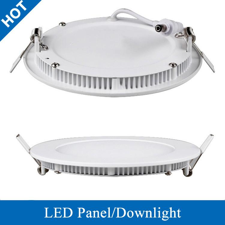 Ultra Thin Round LED Panel Light Recessed Grid Downlight Recessed LED Round Panel Downlight 3W 6W 9W 12W 15W 18W(United States)