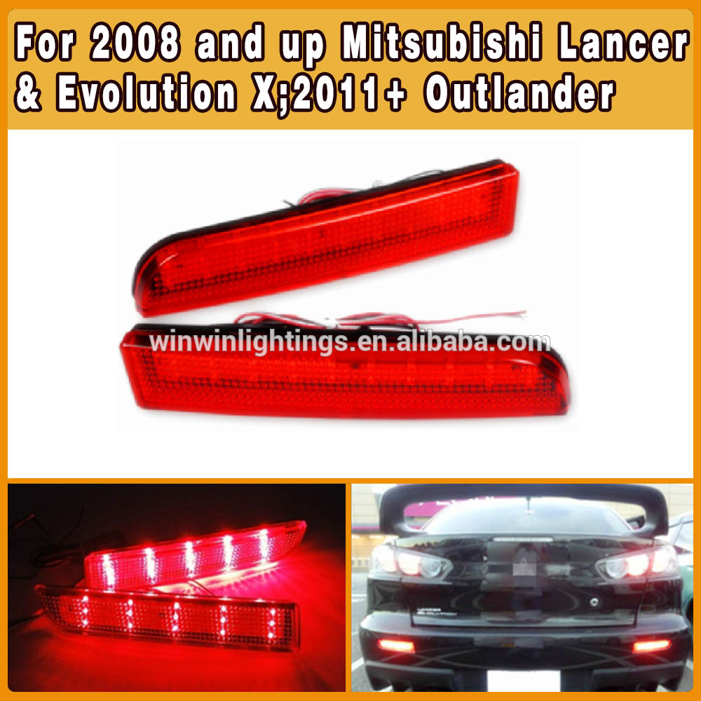 Brilliant Red Lens mitsubishi lancer rear bumper light led as Brake Lamp Quality Choice(China (Mainland))
