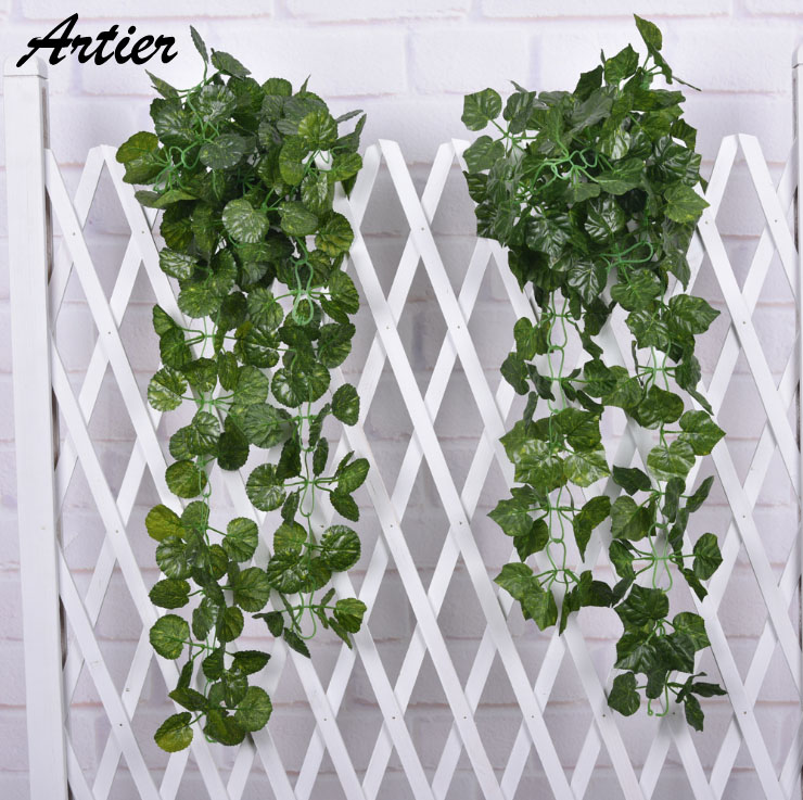 Artificial Ivy Leaf Garland Plants Vine Fake Foliage Flowers Home decor 7.5 feet for wedding decoration Low price AG0326(China (Mainland))