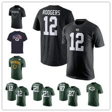 Men's Aaron Randall Rodgers Cobb Jordy Clay Nelson Eddie Ha Ha Lacy Matthews Clinton-Dix Customs Name And Number T-Shirts!(China (Mainland))