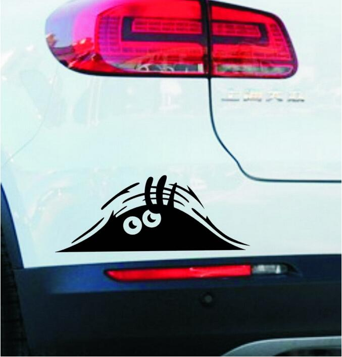 19*7.5cm Funny Peeking Monster Auto Car Walls Windows Sticker Graphic Vinyl Car Decals Car Stickers Accessories Free Shipping(China (Mainland))