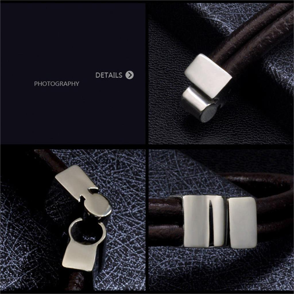 New SuperStar Style Bracelets Bangles Cool Handmade Men Punk Bracelet Leather Bracelets for Men Jewerly 2015