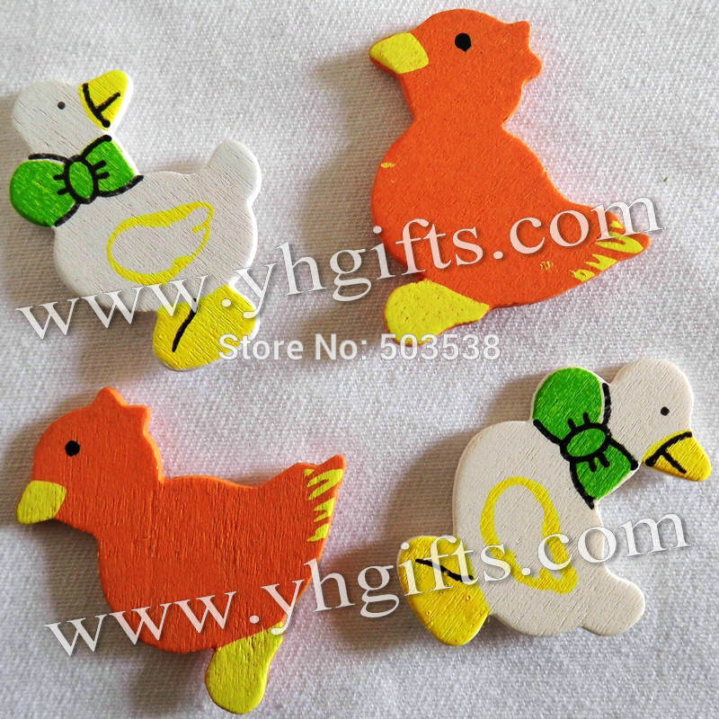 1000PCS/LOT.Wood duck & chick stickers,Kids toys,scrapbooking kit,Early educational DIY.Kindergarten crafts.Classic toy