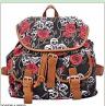 New Arrival Ladies Anna Smith Retro Canvas Backpack Rucksack Girls School HEC Shoulder Hand Bag mochila feminina QQ1626-1(China (Mainland))