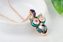ROXI brand fashion rose gold plated owl pendant necklaces for women Fashion Gold Jewelry 2030405375b 11
