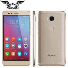 "Original HuaWei Honor 5X 4G FDD LTE Mobile Phone MSM8939 Android 5.5"" FHD 1080P 3GB RAM 16GB ROM 13.0MP Fingerprint Smartphone(China (Mainland))"