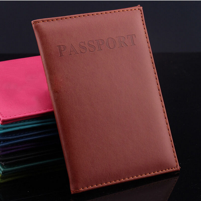 Hot Women & Men Fashion Faux Leather Travel Passport Holder Cover ID Card Bag Passport Wallet Protective Sleeve Storage Bag(China (Mainland))