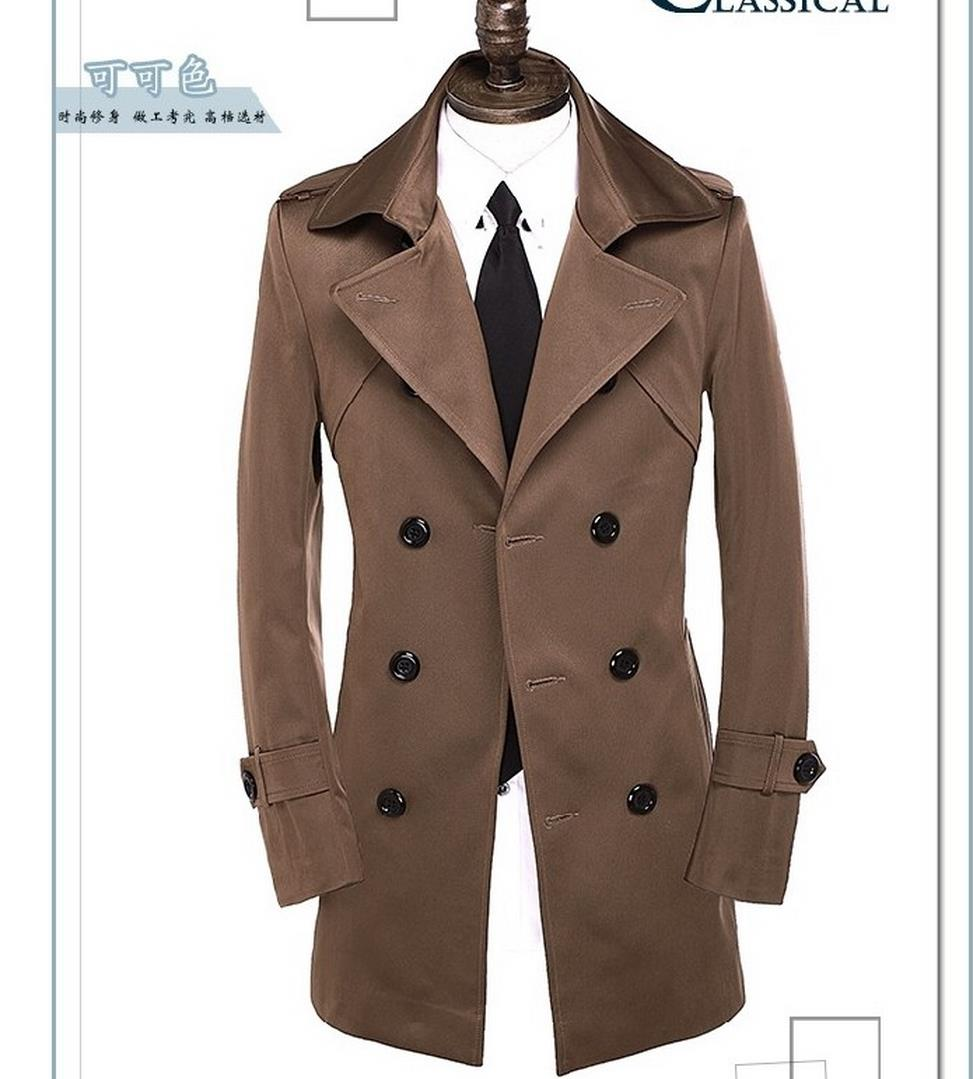 Black grey red beige brown spring autumn double-breasted trench coat men slim fit mens coats overcoat england plus size S - 9XLОдежда и ак�е��уары<br><br><br>Aliexpress