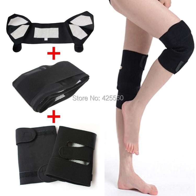 Tourmaline Self Heating Magnetic Therapy Waist & Kneepad Support & Tourmaline Shoulder Belt Massage Free Shipping(China (Mainland))