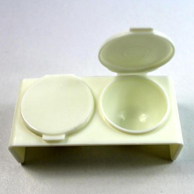 2pcs/lot Hot Sale DIY Round Art Style Nail Polish Holders, Nail Art Tool Accessory Polish Crystal Double Bottom Holder MJ0063(China (Mainland))