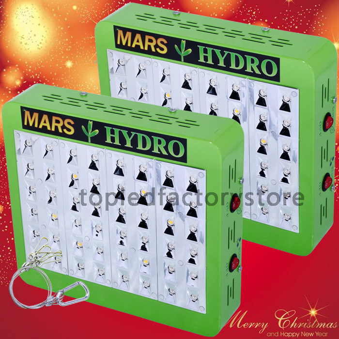 2PCS Mars Hydro Reflector 48 Led Grow Light 100W True Watt Full Spectrum Panel Stock in US/DE/Canada, local & fast shipping!(China (Mainland))