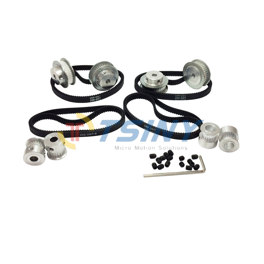 20 Teeth 40 Teeth GT2 Timing Pulley And Length 200mm 202mm 204mm 208mm GT2 Belts in
