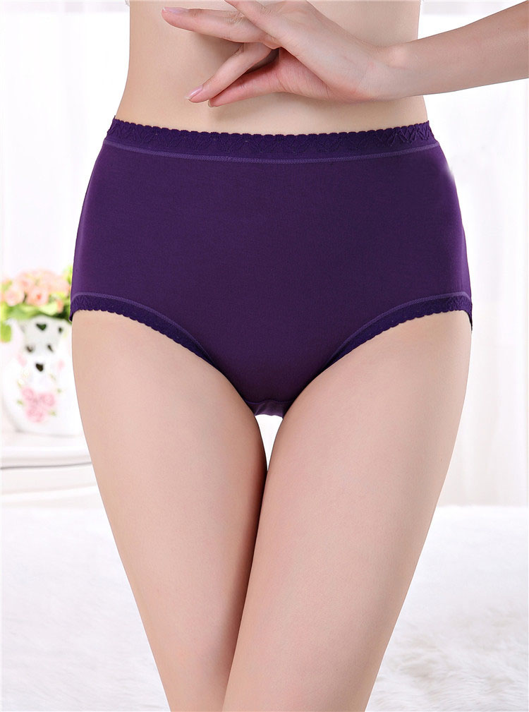 New Women Sexy Seamless Briefs Bamboo Fiber 14 Colors Ultra-thin Traceless Trimming Ruffles Underwear Plus Size Panties For Lady(China (Mainland))