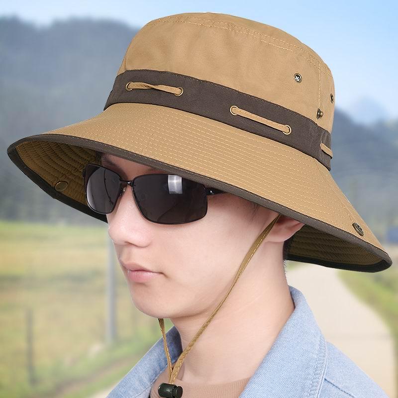 Fashion Brand Unisex Sport Cap Outdoor Cotton Shade Sunhat Leisurely Tourist Bucket Hat Sunscreen Large Brimmed(China (Mainland))