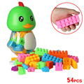 54 pieces lot Self Locking Bricks Assemblage Blocks Cartoon Duck DIY Early Childhood Educational Toys
