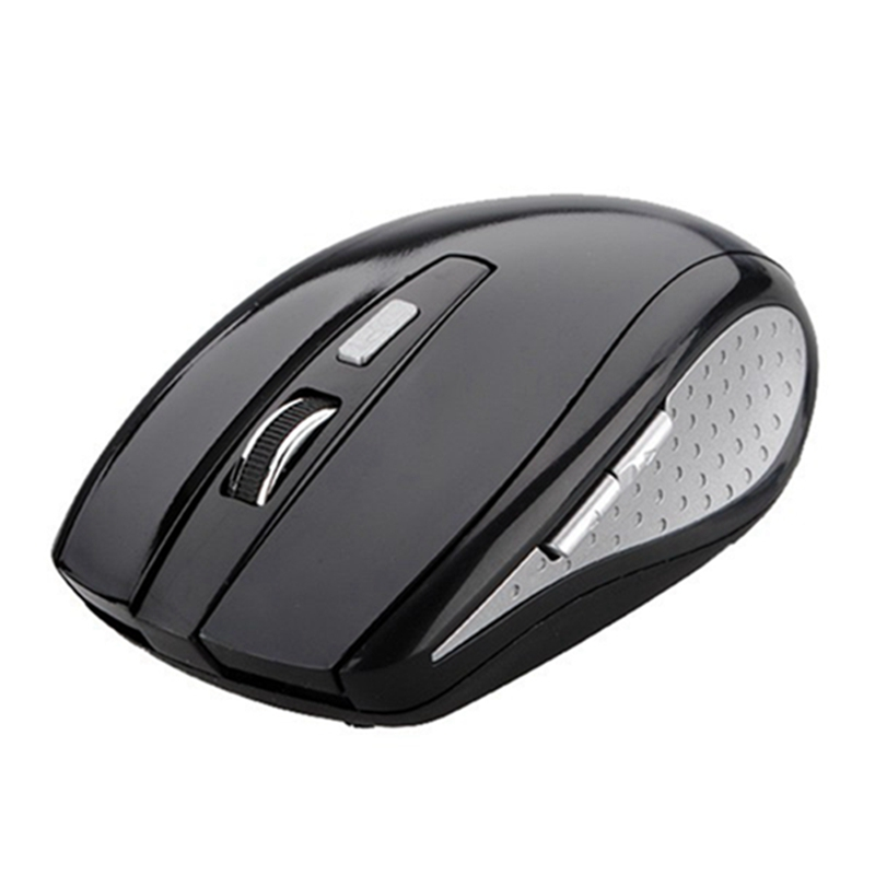 2.4GHz 10m RF Wireless Optical Mouse + USB 2.0 Min Receiver 800-1200CPI 5 Buttons Gaming Mice For Laptop Computer PC Black(China (Mainland))