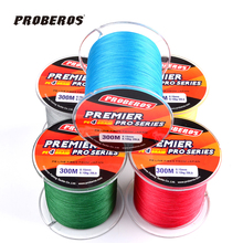 300M Fishing Line Dark Green/Grey Color braided line available 20LB-100LB PE line fishing tackle(China (Mainland))