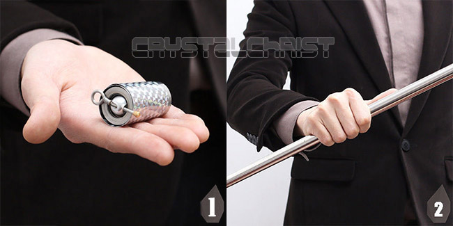 Гаджет  APPEARING CANE METAL SILVER MAGIC TRICKS CLOSE UP ILLUSION SILK TO WAND None Игрушки и Хобби