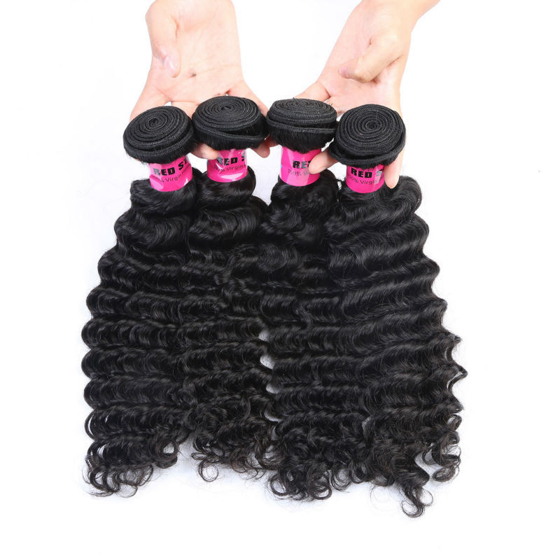 Deep Wave Virgin Brazilian Hair Weave Bunldes 10pcs Lot Human Hair Weft Wholesale Black Hair Extensions 10-28 Free Shipping<br><br>Aliexpress