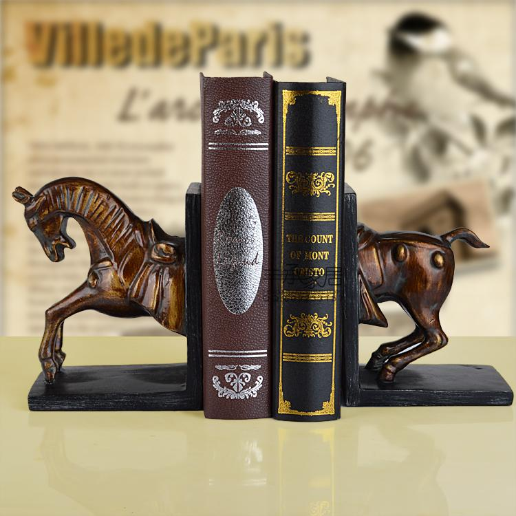 American fashion vintage rustic book end bookend set classic brief book file fashion book ends<br><br>Aliexpress