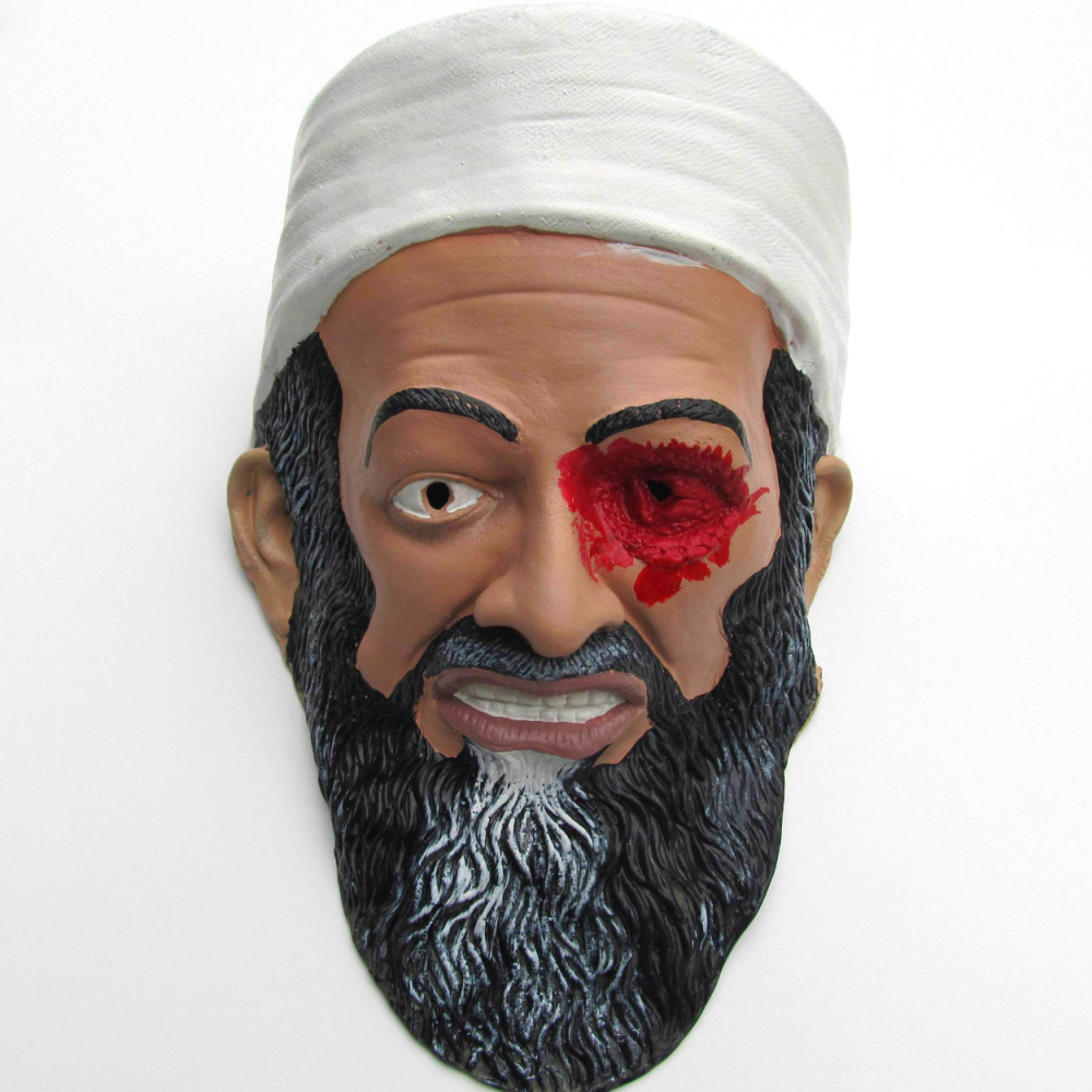 Osama bin Laden killed mask Halloween masquerade realistic movie risers