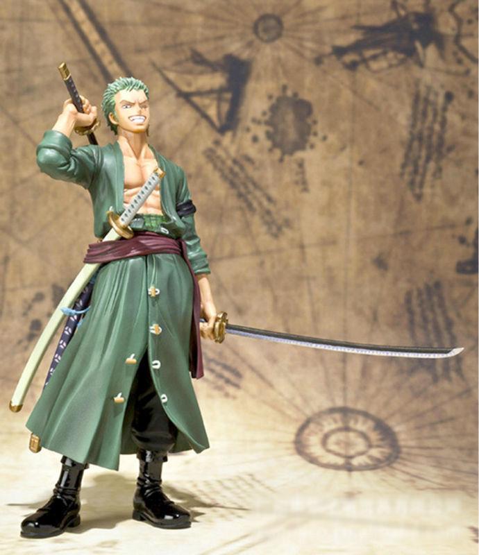 "Anime one piece Roronoa Zoro action figure toys 15cm(6.3"") PVC doll free shipping, no original Box(China (Mainland))"