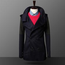 New 2016Men Jacket coat hooded long Men's coat sleeve coat  Very comfortable(China (Mainland))