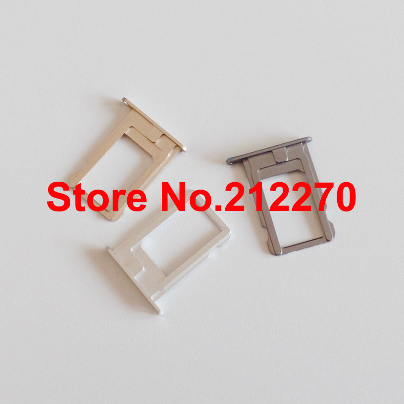 Original New Sim Card Tray Holder Slot Replacement Part for iPhone 5S Wholesale(China (Mainland))