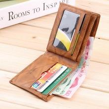 1pc new fashion Men PU Leather Wallet Pockets Card US Dollar Bill Money Wallet Man BIFOLD