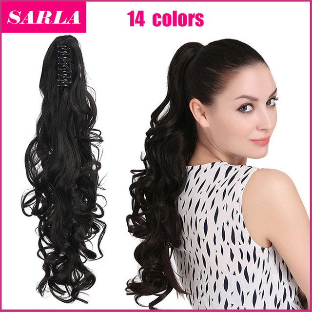"""1pcs/lot Synthetic Ponytail  Pony Tail Long Curly Claw In Ponytails Extension 20""""50cm 160g Hair Festival Gift Free Shipping P006"""