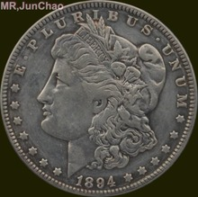 U.S. 1894 Morgan One Dollar 90% Silver Copy Coin Can Choose Many Kinds to Make Old Style(China (Mainland))