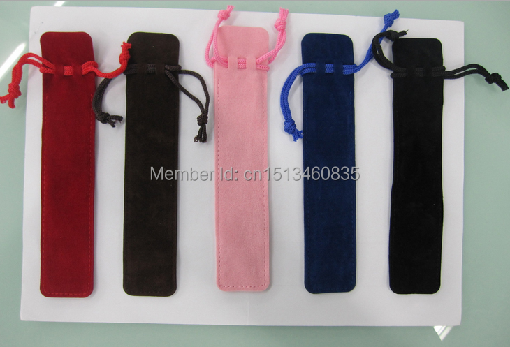 free shiping velvet jewelry pouch velvet pouch pen pouch velvet record pen pouch pen bag custom logo(China (Mainland))