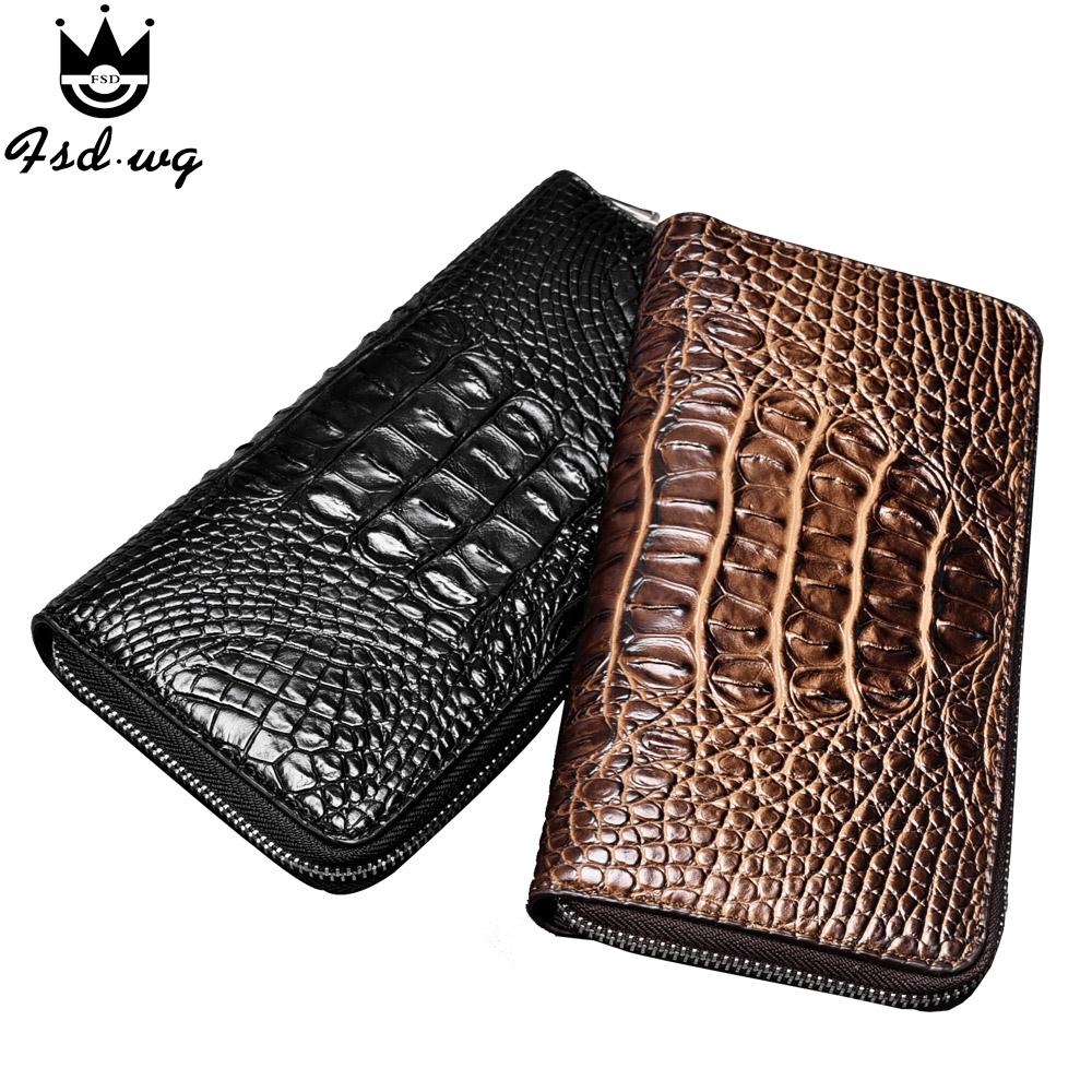 2016 3D croodile grain men wallets pu leather mens wallets men's long zipper clutch purse famous brand wallet bag(China (Mainland))