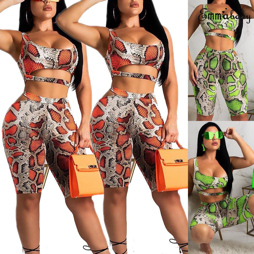2PCS//Set Women Sports Suit Crop Top Pants Outfit Yoga Workout Clothes Tracksuits